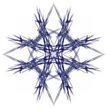 Abstract fractal with a dark blue pattern Stock Image