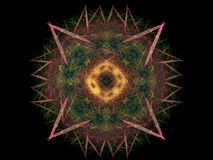 Abstract fractal with a decorative pattern Stock Photography