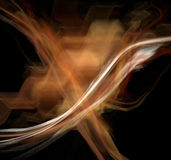 Abstract Fractal Design. With streaks of white and orange in the shape of an X against a black background Royalty Free Stock Images