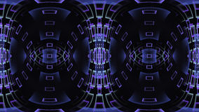 Abstract fractal design with purple gradient windows or rectangles in a wave. On dark background Stock Photo