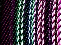 Abstract fractal donker patroon met vage lichte lijnen royalty-vrije illustratie