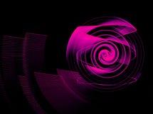 Abstract fractal element in rotatiemotie voor uw ontwerp stock afbeeldingen