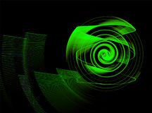 Abstract fractal element in rotatiemotie voor uw ontwerp stock afbeelding