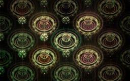 Abstract fractal fantasie groen rond gemaakt patroon Royalty-vrije Stock Afbeelding
