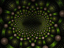 Abstract fractal fantasie groen spiraalvormig patroon Stock Foto