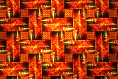 Abstract fractal fantasie oranje patroon Royalty-vrije Stock Afbeeldingen