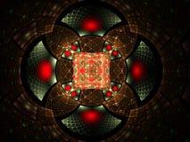 Abstract fractal fantasie rood en bruin patroon Royalty-vrije Stock Afbeelding