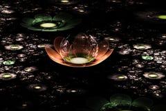 Abstract fractal fantasiegebied van bloemen Royalty-vrije Stock Afbeelding