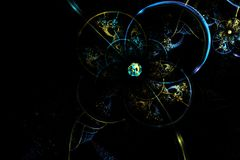 Abstract fractal fantastic blue glass sphere in space Royalty Free Stock Images