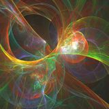 Abstract fractal, fantasy backgroundin autumn colors. Computer g. Abstract fractal, fantasy background in autumn colors. Computer generated graphics for brochure royalty free illustration