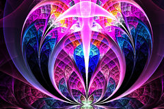 Abstract fractal fantasy magenta pattern and shapes. Stock Photography