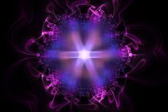 Abstract fractal fantasy magenta pattern and shapes. Royalty Free Stock Images