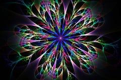 Abstract fractal fantasy pattern and shapes. Fractal artwork for creative design,flyer cover, interior, poster stock illustration