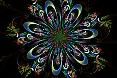 Abstract fractal fantasy pattern and shapes. Fractal artwork for creative design,flyer cover, interior, poster vector illustration