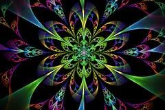 Abstract fractal fantasy pattern and shapes. Abstract fractal fantasy multicolored pattern and shapes.Fractal artwork for creative design,flyer cover, interior stock illustration