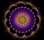 Abstract fractal fantasy violet rounded pattern and shapes. Abstract fractal fantasy violet rounded  pattern and shapes.Fractal artwork for creative design Royalty Free Stock Photography