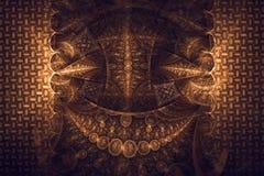 Abstract fractal fantasy wallpaper brown pattern. Fractal artwork for creative design,flyer cover, interior, poster royalty free illustration