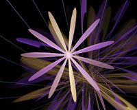 Abstract fractal flame fractal backgroundr Royalty Free Stock Photos