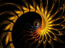 Abstract fractal flames background Royalty Free Stock Image