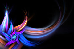 Abstract Fractal Flower Stock Photography