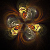 Abstract fractal flower on black background. Stock Photos