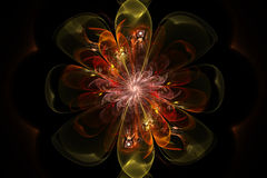 Abstract fractal flower Stock Photos