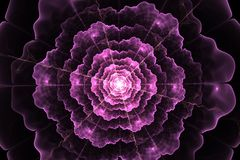 Abstract fractal flower computer generated image stock photography