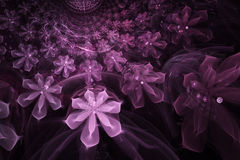 Abstract fractal flower computer-generated Stock Images