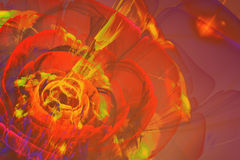 Abstract Fractal flower royalty free illustration