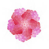 Abstract fractal flower on square tile stock photography