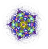 Kaleidoscope mandala isolated on white background Royalty Free Stock Photo