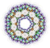 Kaleidoscope mandala isolated on white background Stock Image
