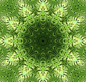 Abstract fractal futuristisch groen patroon Royalty-vrije Illustratie