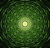 Abstract fractal futuristisch groen patroon royalty-vrije illustratie