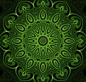 Abstract fractal futuristisch groen patroon Stock Foto