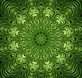 Abstract fractal futuristisch groen patroon Stock Afbeelding