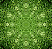 Abstract fractal futuristisch groen patroon stock illustratie