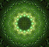 Abstract fractal futuristisch groen patroon Royalty-vrije Stock Foto's