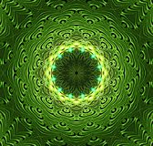 Abstract fractal futuristisch groen patroon Royalty-vrije Stock Fotografie