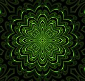 Abstract fractal futuristisch groen patroon Vector Illustratie