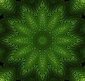 Abstract fractal futuristisch groen patroon Stock Afbeeldingen