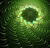 Abstract fractal futuristisch groen patroon stock illustratie