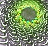 Abstract fractal futuristisch groen patroon vector illustratie