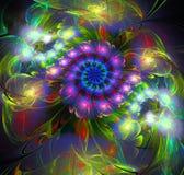 Abstract fractal futuristisch kleurrijk patroon Stock Afbeelding