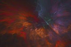 Abstract fractal geïllustreerd achtergrond teruggegeven behang Stock Foto's