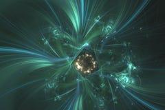 Abstract fractal geïllustreerd achtergrond teruggegeven behang Stock Foto