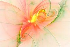 Abstract fractal geïllustreerd achtergrond teruggegeven behang Royalty-vrije Stock Foto