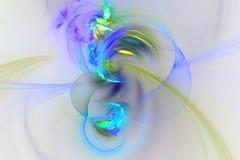 Abstract fractal geïllustreerd achtergrond teruggegeven behang Royalty-vrije Stock Foto's