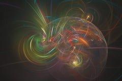 Abstract fractal geïllustreerd achtergrond teruggegeven behang Stock Afbeelding