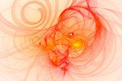 Abstract fractal geïllustreerd achtergrond teruggegeven behang Royalty-vrije Stock Afbeelding